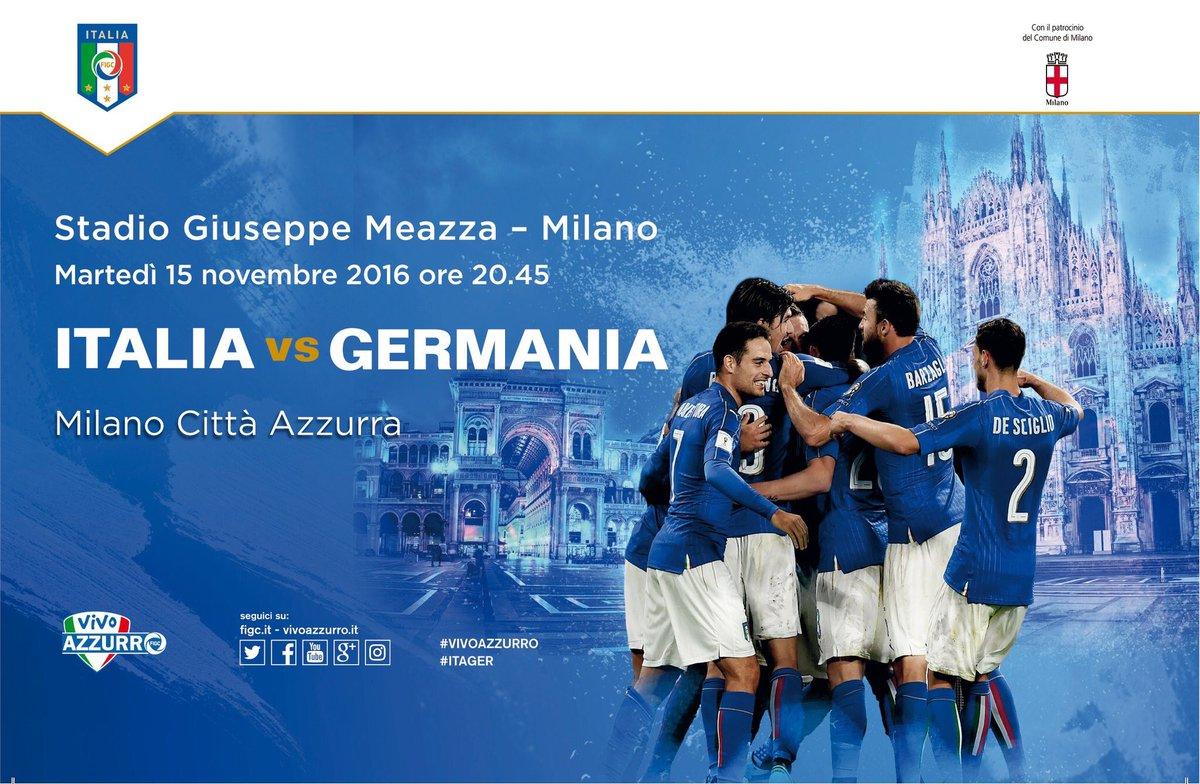 Diretta ITALIA GERMANIA, vedere Streaming RAI TV gratis  oggi 15-11-2016 partita amichevole