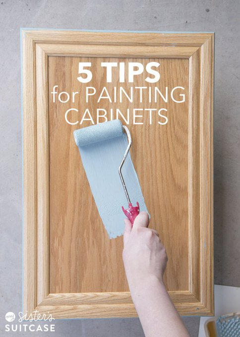 Need to upgrade those bathroom cabinents on a budget? Try these 5 DIY painting hacks: