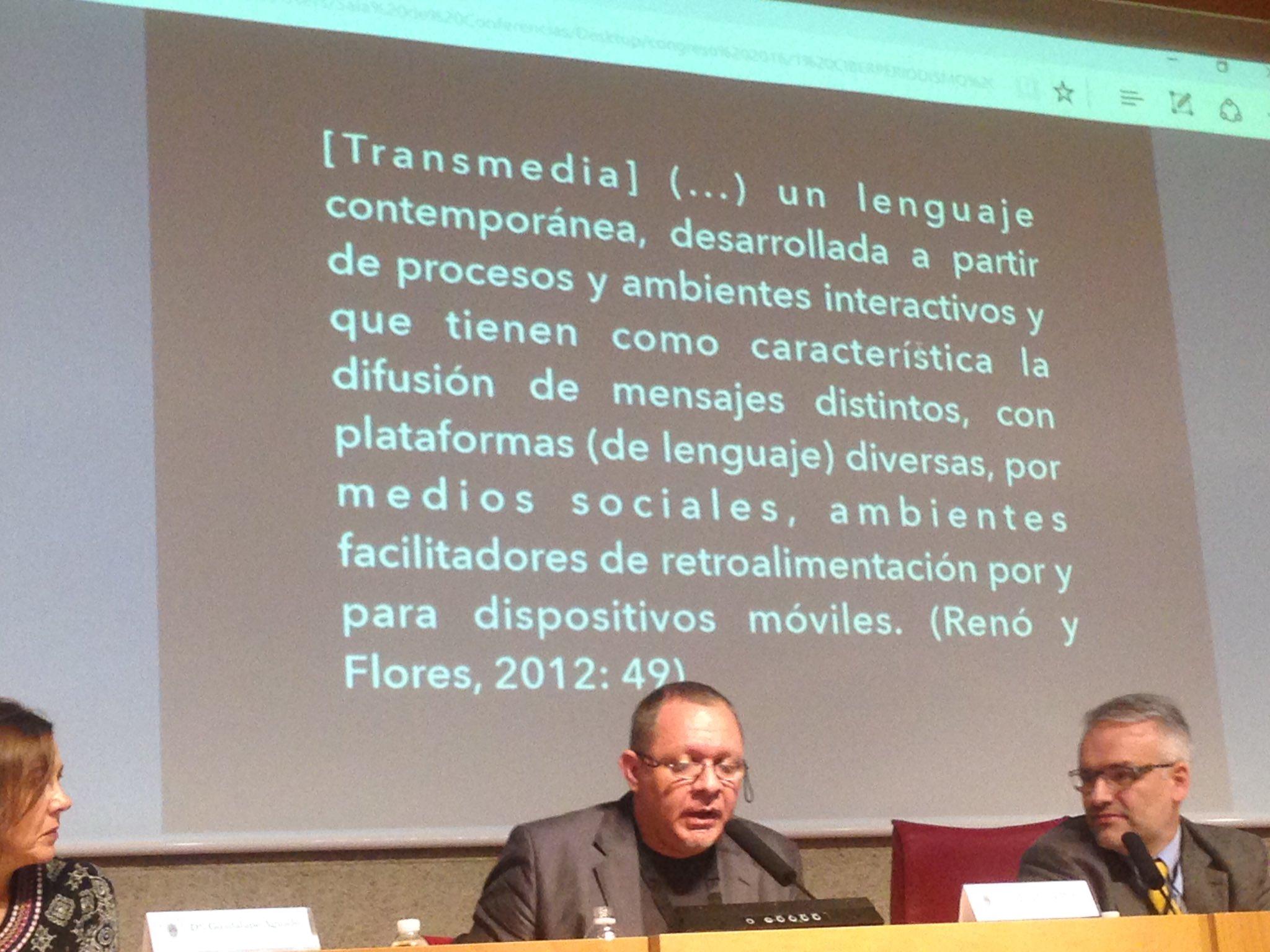 El concepto de Transmedia, la obra de @jesusflores y  @denisreno, en @CongresoUCM https://t.co/UTpVlrQXaN