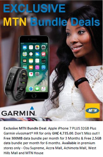 Elie Choueiri On Twitter Exclusive Mtn Bundle Deal Apple Iphone 7 Plus 32gb Plus Garmin Vivosmart Hr For Only Ghs 4 735 00 Don T Miss Out