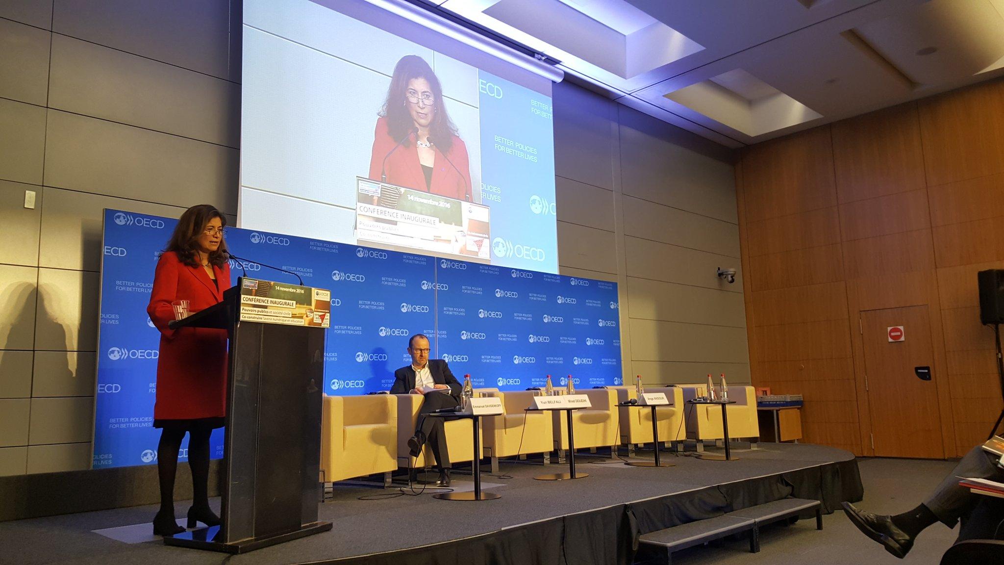 #ParisEdWeek Ouverture de la conférence inaugurale par @gabramosp conseillère spéciale du secrétaire général @OCDE_fr & sherpa auprès du G20 https://t.co/oNOSckCflc