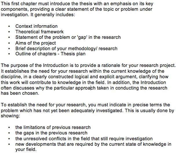 how to write a rationale for a research project