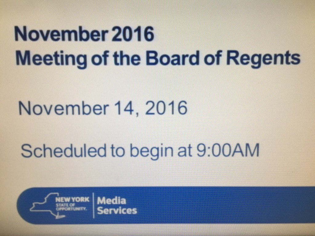 This mornings @NYSEDNews Regents mtg about to begin @NYSPTA https://t.co/CtI7ebpUkY