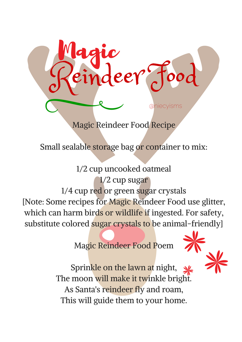 picture relating to Reindeer Food Poem Printable named reindeerfood hashtag upon Twitter
