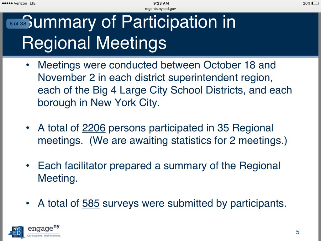 2206 participants in recent @NYSEDNews mtgs in ESSA, good news that public survey and meetings coming @NYSPTA https://t.co/6COlvpAh0v