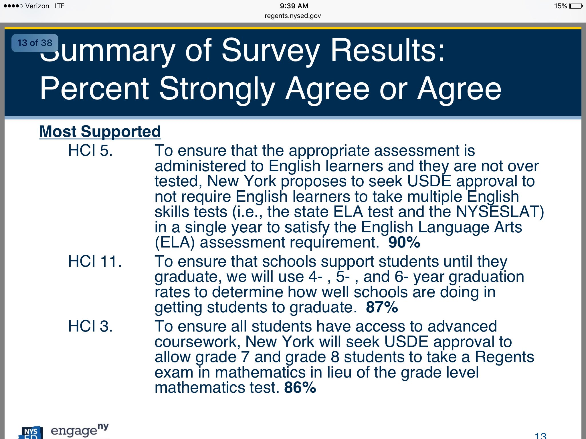Summary of highest strongly agree ideas @NYSEDNews @NYSPTA https://t.co/m2omv7QrQc