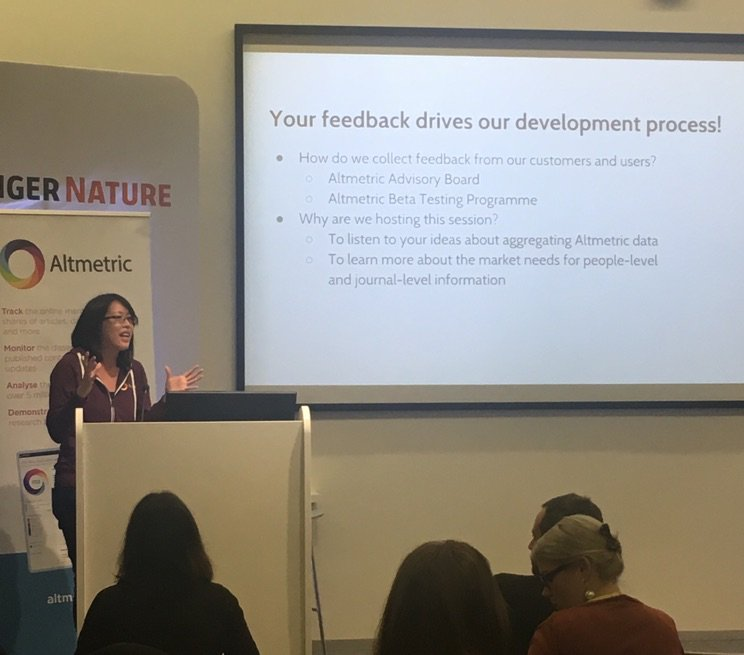 .@portablebrain gives an introduction to how we approach product strategy and integrate user feedback at @altmetric #altmetricon16 https://t.co/YT0KVN3cjI