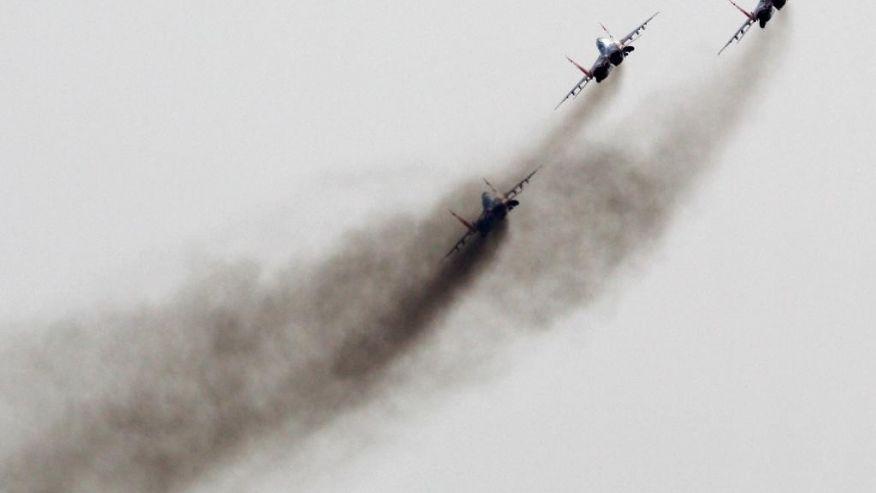 Российский истребитель рухнул в море после взлета с авианесущего крейсера Адмирал Кузнецов