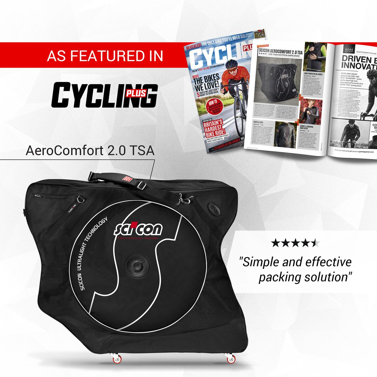 Scicon Bags On Twitter Top Review Of The Aerocomfort 2 0 Tsa Bikebag In This Month S Cyclingplus Now Https T Co I6pnppnw3e