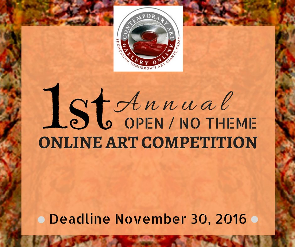 1st Annual Open / No Theme Online Art Competition - DEADLINE NOVEMBER 30, 2016 https://t.co/BbRGv5Yagi https://t.co/qdBreDdkpN