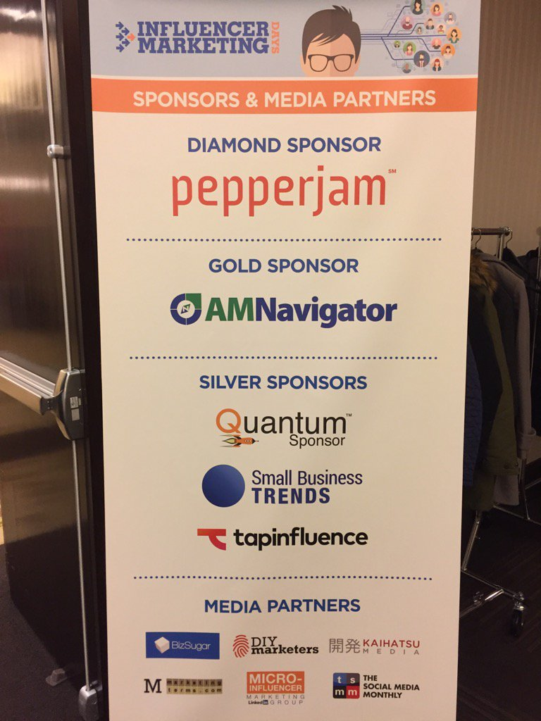 Thank you to our #InfluencerDays sponsors. We appreciate your support!! https://t.co/P0vDGOP6DK
