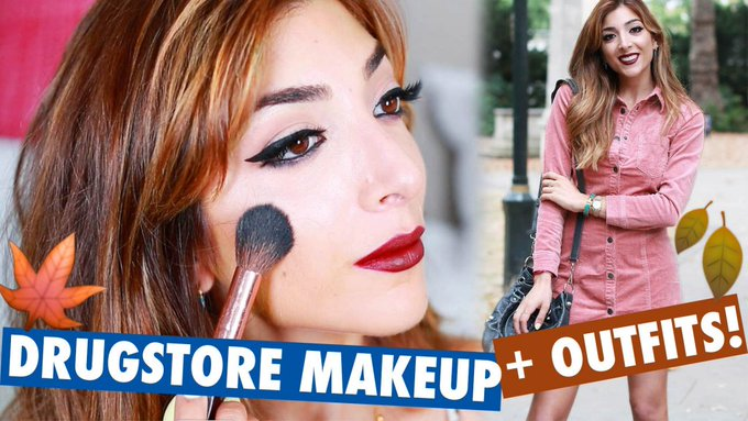 Drugstore Fall Makeup Tutorial + 2 Outfits! | Amelia Liana LoveYaAmelia MakeUp Beauty -