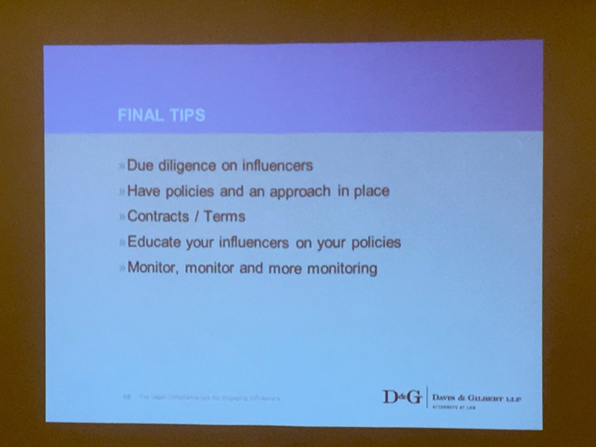 Legal tips for safe #InfluencerMarketing (from @GaryKibel at #InfluencerDays) https://t.co/sMlc5Ta3Md