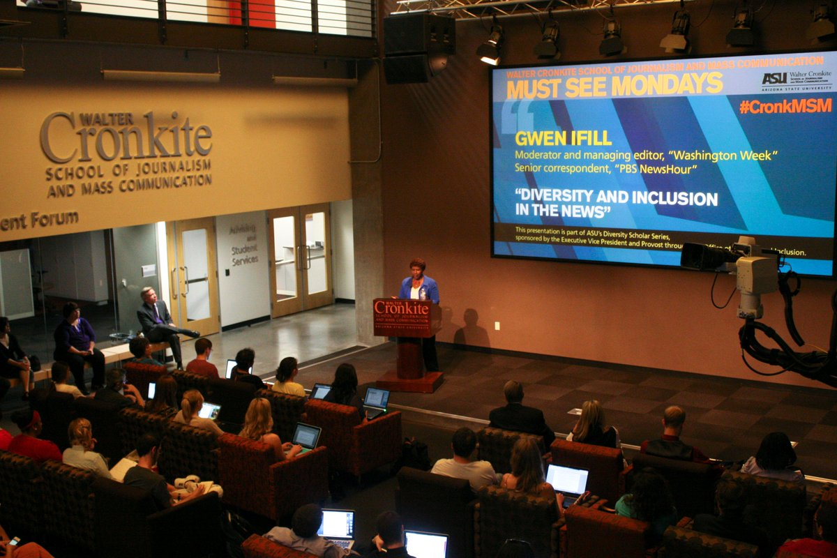 The Cronkite School mourns the loss of Gwen Ifill, who passed away today at age 61. https://t.co/8kq5gyYZ7P