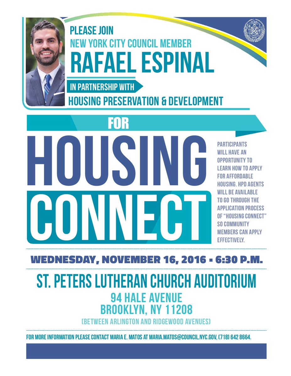 Cypress Hills Ldc On Twitter Free Workshop On Nyc Housing Connect