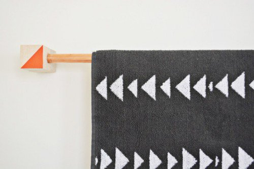 Be bold with a unique towelhook! DIY