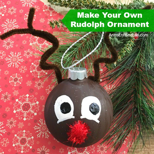 Make your own Rudolph ornament! craft diy decor
