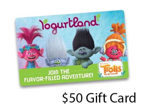 Crown Club Members Trolls Yogurtland Gift Cards Are Available In