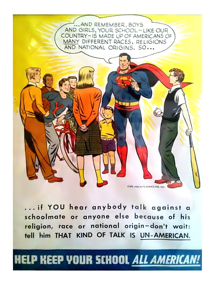 "Molly Hodgdon on Twitter: ""Superman poster, 1949… """