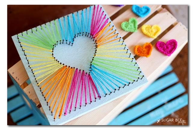 Simple tutorial for string art - so gorgeous: DIY crafts