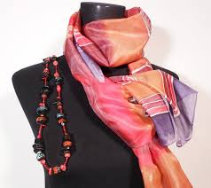 Make a hand-painted silk scarf diy green orange water