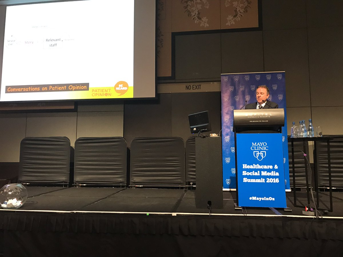 """When patients provide feedback they're giving us a gift""  @CEO_POAustralia at #MayoInOz https://t.co/t6Bc7AX5k3"