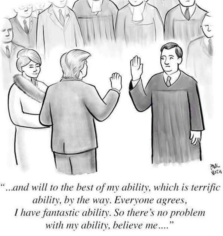 Funny, funny. @newyorker cartoon about #TrumpPresident inauguration. https://t.co/agmgWUg7hf