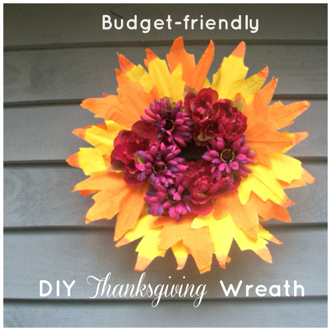 DIY Thanksgiving Wreath on a Budget - Embracing Destiny ihsnet moms crafts hsmoms