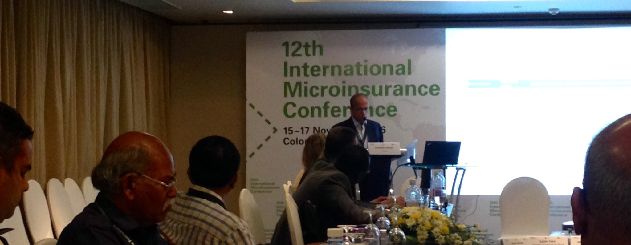 Jonathan Anchen @SwissRe discusses the value of mutuals in #microinsurance + the challenges in creating a regulatory space for them #12thIMC https://t.co/ml0F6SWYJv