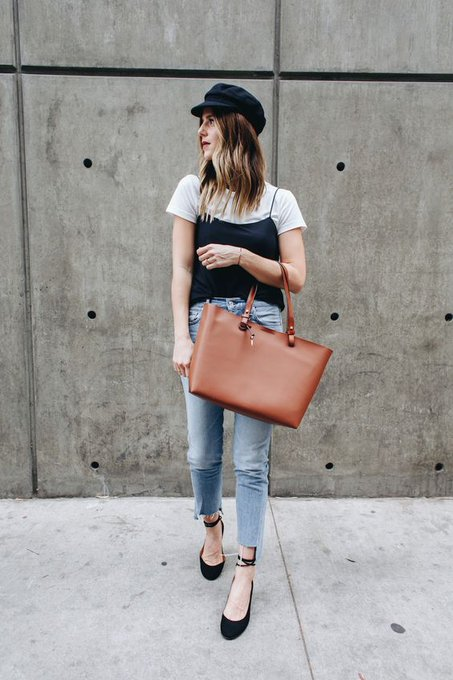 HOW TO STYLE A TANK OVER A T-SHIRT via Take Aim michelletakeaim ootd