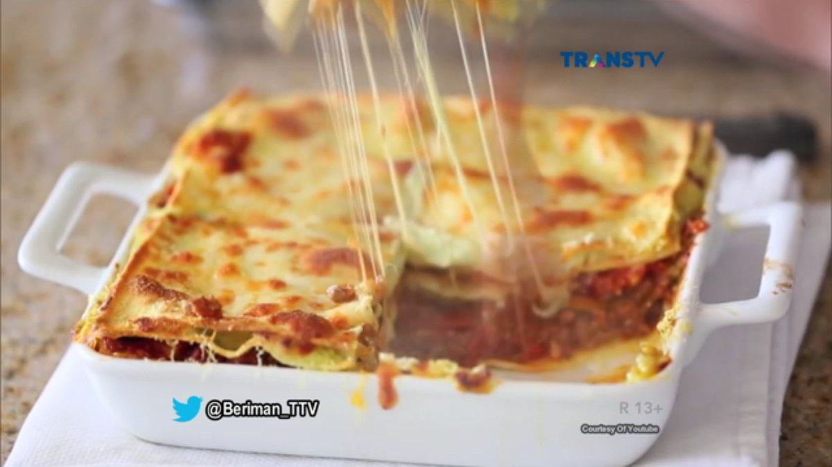 Trans Tv On Twitter Lasagna Adalah Salah Satu Makanan Paling