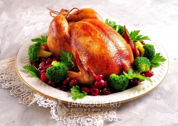 Цыпленок запеченный в духовке целиком рецепт с фото