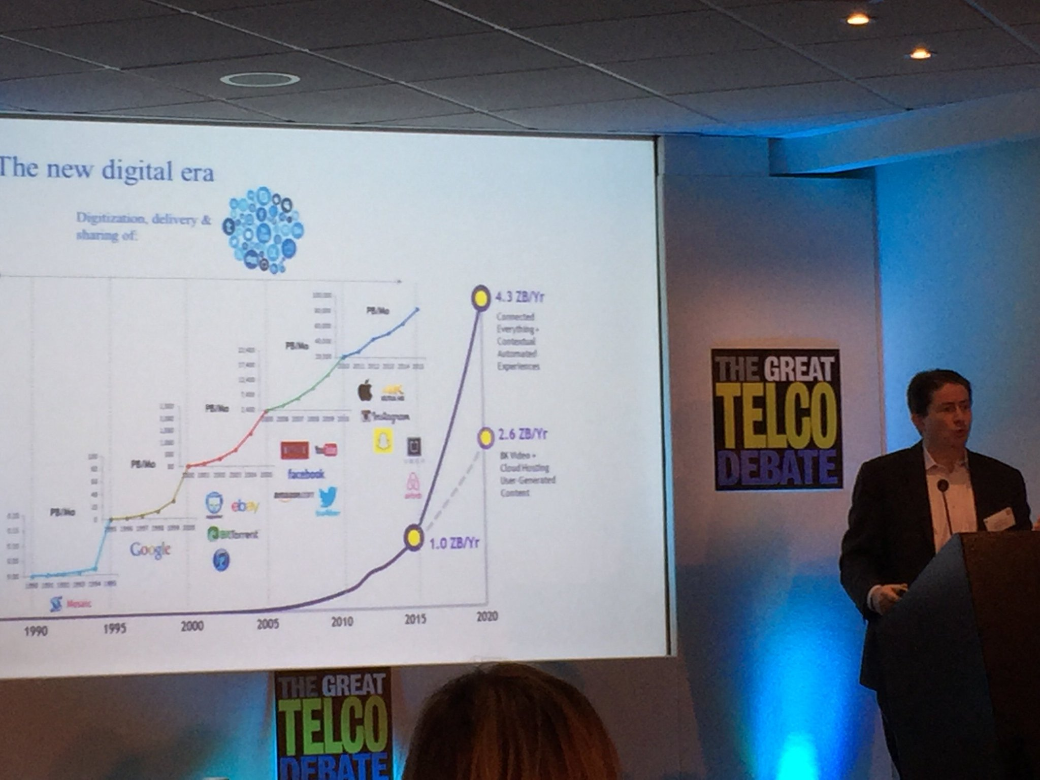 At #GTD2016 @MarcusWeldon, CTO @nokia and President of Bell Labs, argues for the debate (of building optimal dig platform) @TheTelcoDebate https://t.co/xeL89ZVSM9