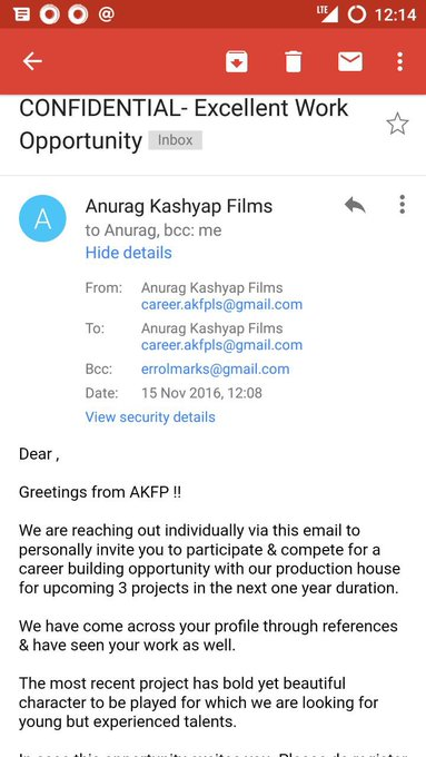 Please do not respond to this mail.AKFPL the company is not doing any production and is not doing any such programme https://t.co/rDhodsrPOb