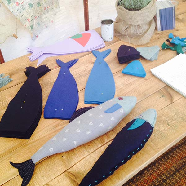How to make a fabric fish! Full tutorial - felt fish craft tutorial