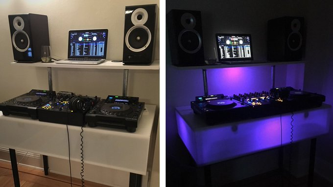 How to build an LED home DJ booth! DIYLink DJTechTools -