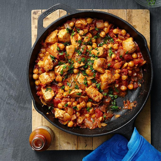 Eastern Chicken & Chickpea Stew - 9 The Best for Your Cast Iron