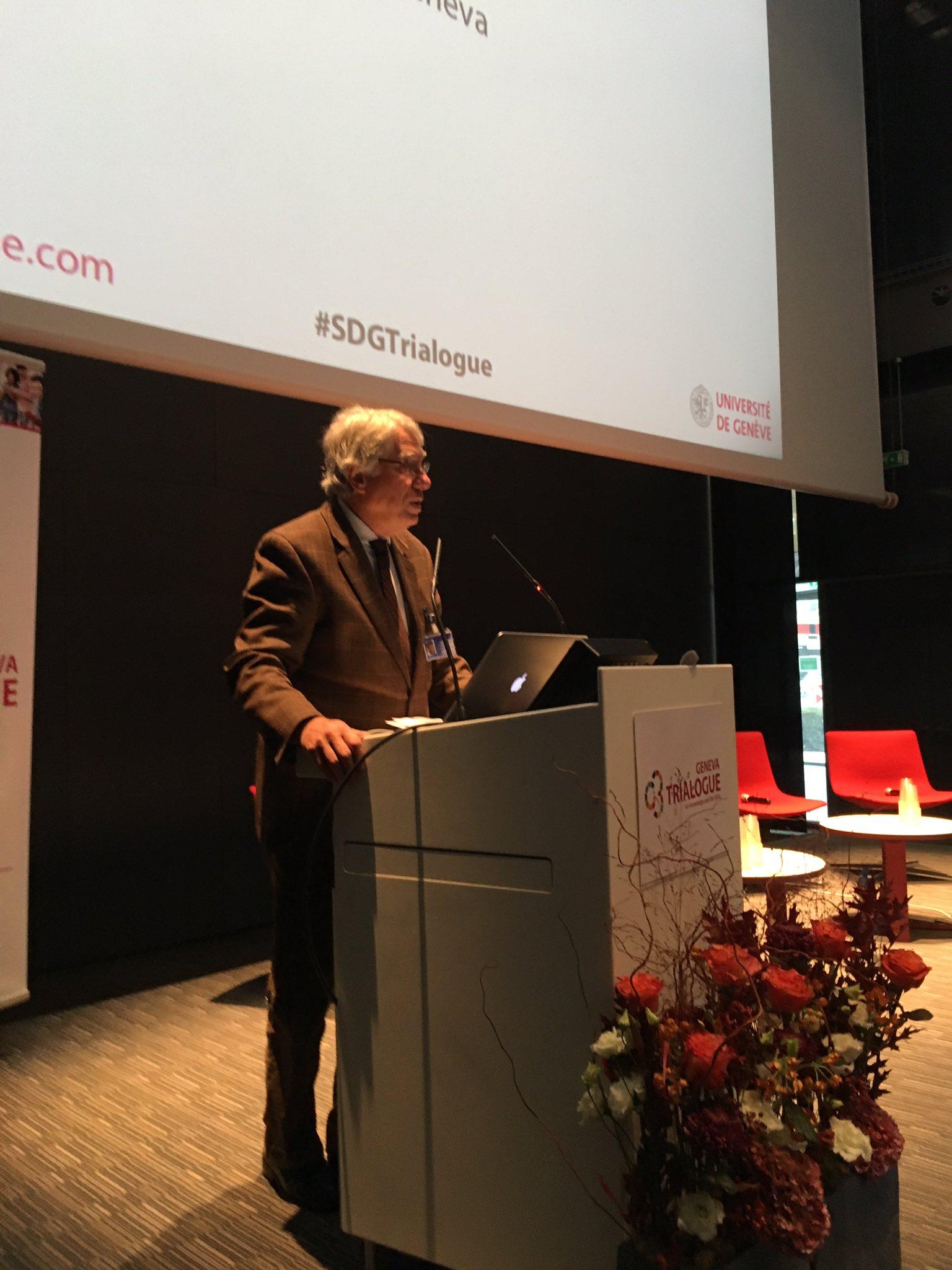 #SDGTrialogue has started - @UNIGEnews Denis Hochstrasser opens the floor! https://t.co/QlR2pLn3Pl
