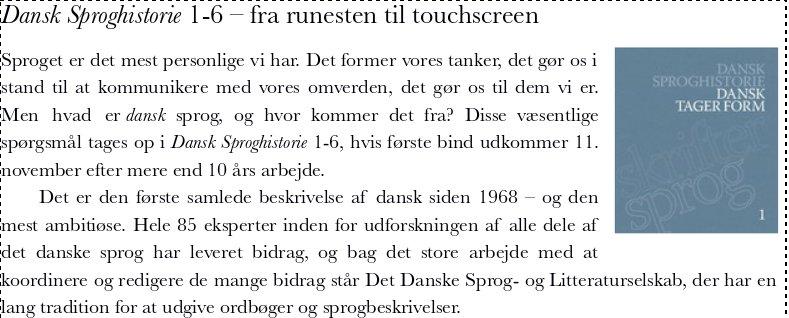 dansk sproghistorie bind 1