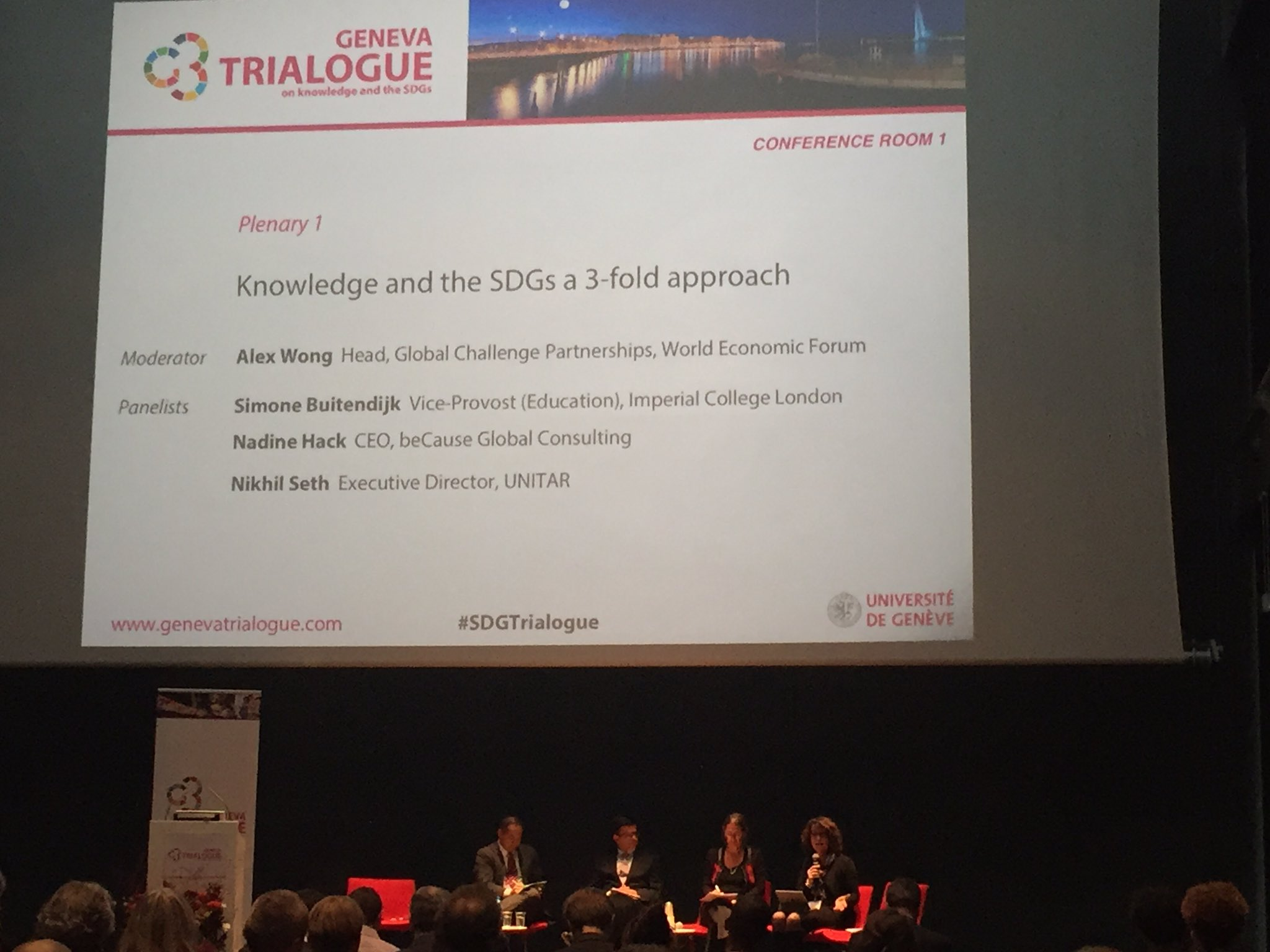 #SDGTrialogue, S. Buitendijk (ICL) about the wrong competitive priorities set by Universities instead of sustainable solutions and education https://t.co/KzUdaROae8