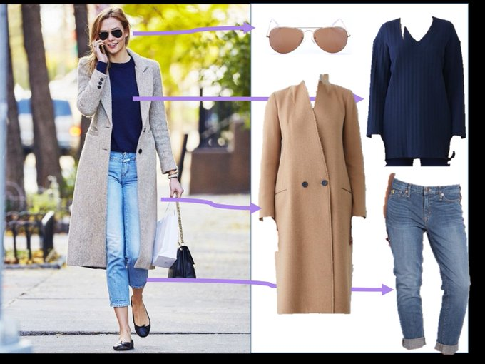 Adopte le look chic et confortable de Karlie Kloss grce ces items: ootd