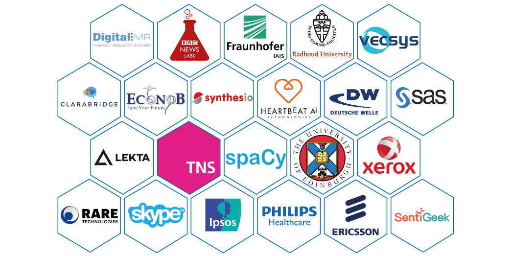 Who's speaking at https://t.co/s14mxynYra next week? Folks from these organizations, in market research, consumer insights, media, NLP tech. https://t.co/cepPegZDAs