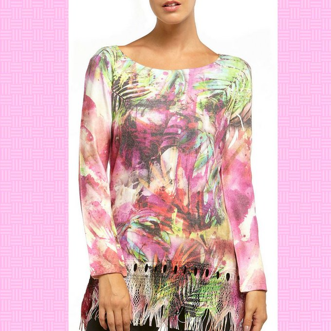 Plunge into pink palm passion. SiennaRoseInc fashion ootd