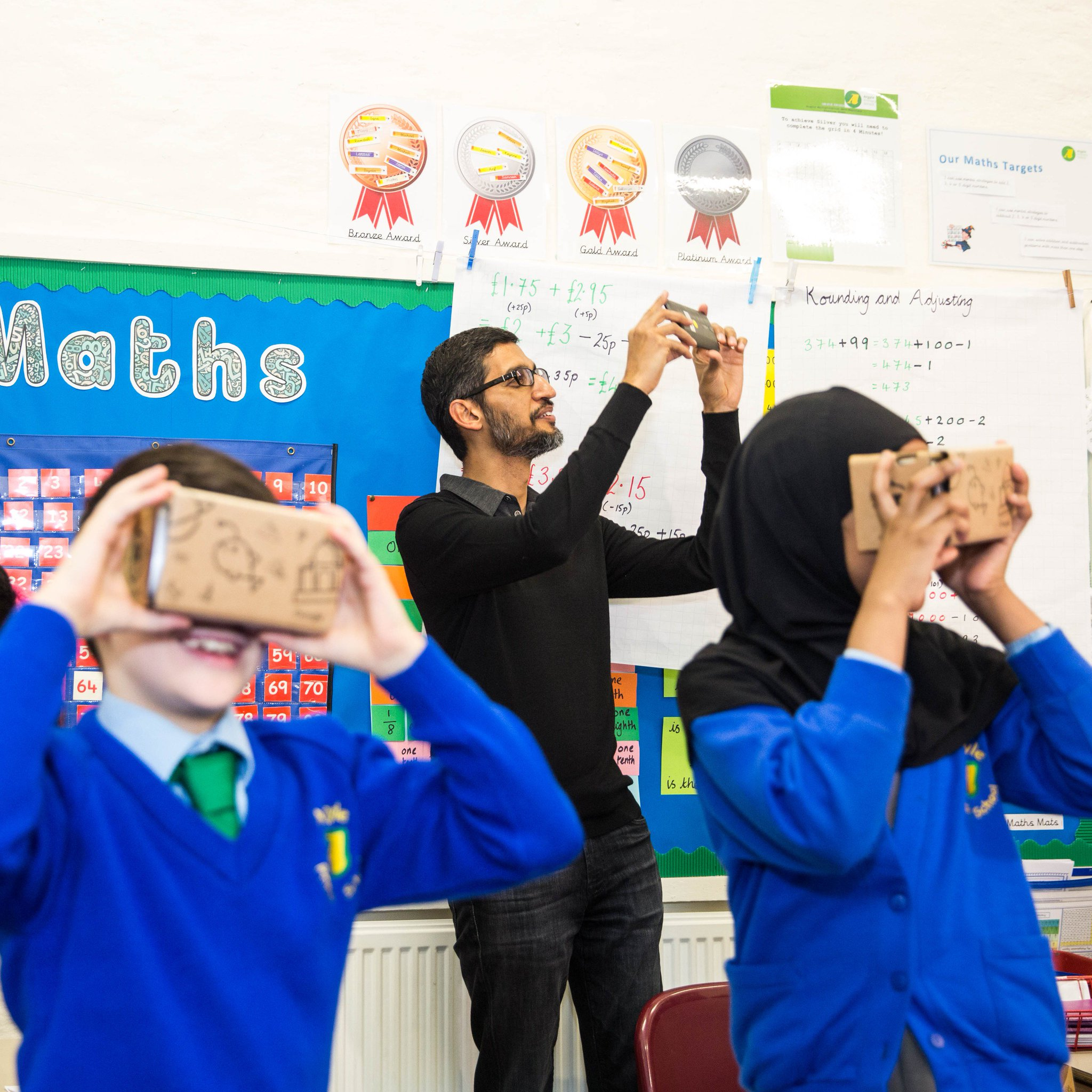Virtual reality can spark students' imagination and help them learn about topics in an engaging and immersive way. Sundar Pichai CEO, Google