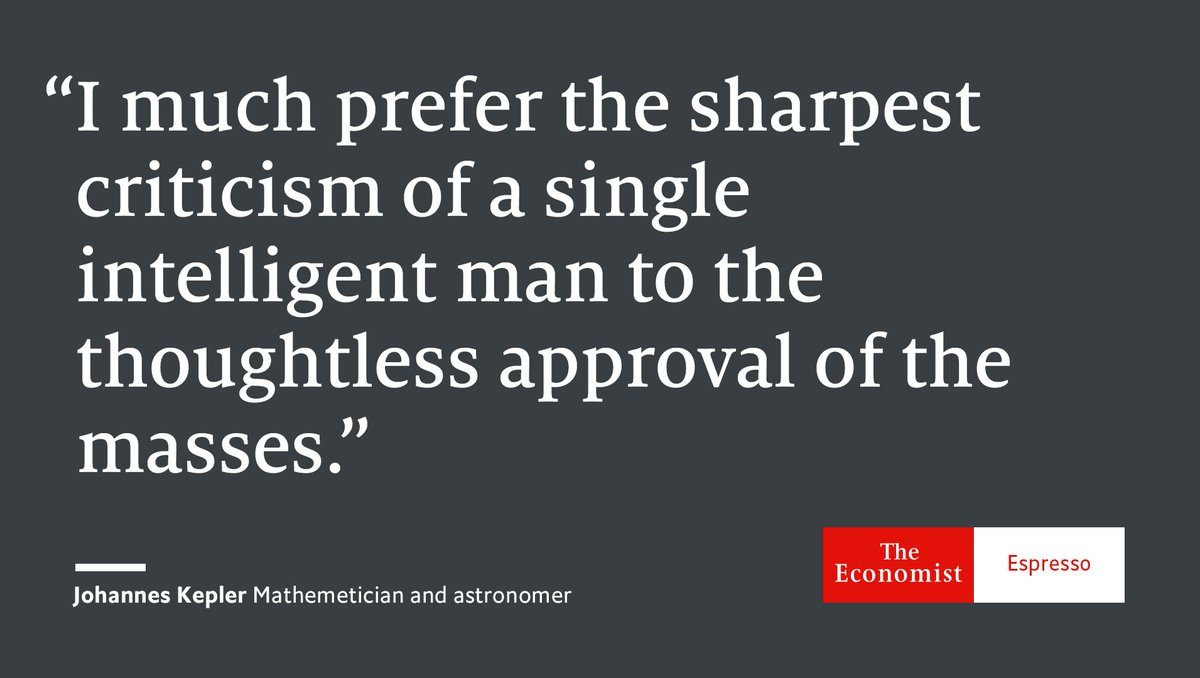 Our quote of the day is from German mathematician, astronomer and astrologer Johannes Kepler