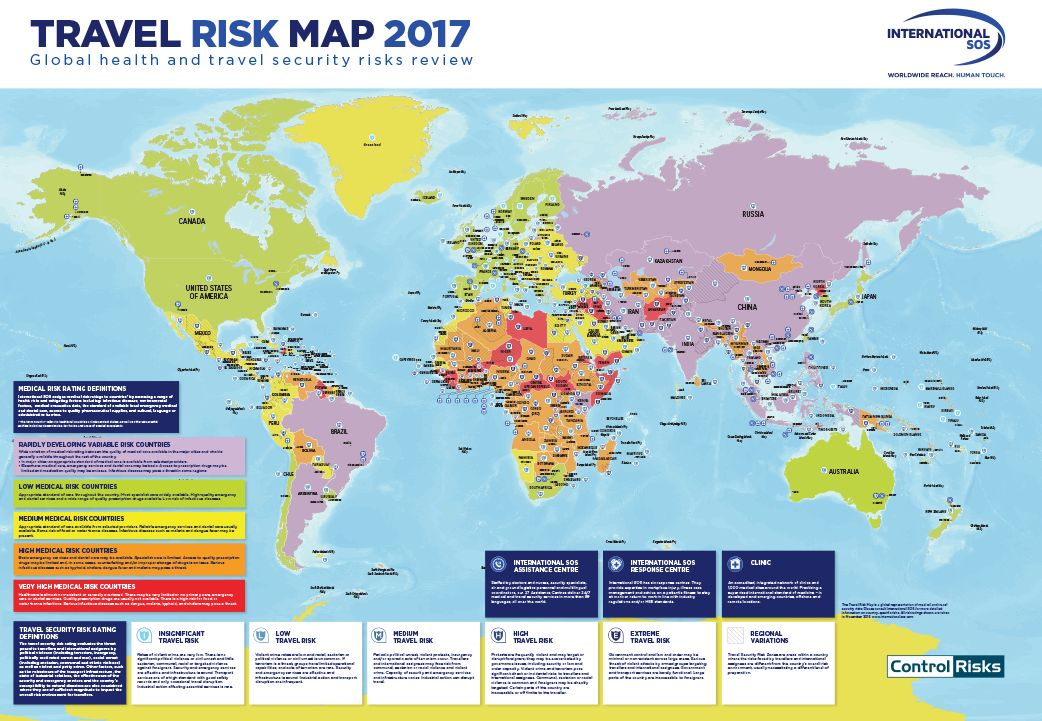 International Sos On Twitter Quot Travel Risk Map 2017 Just
