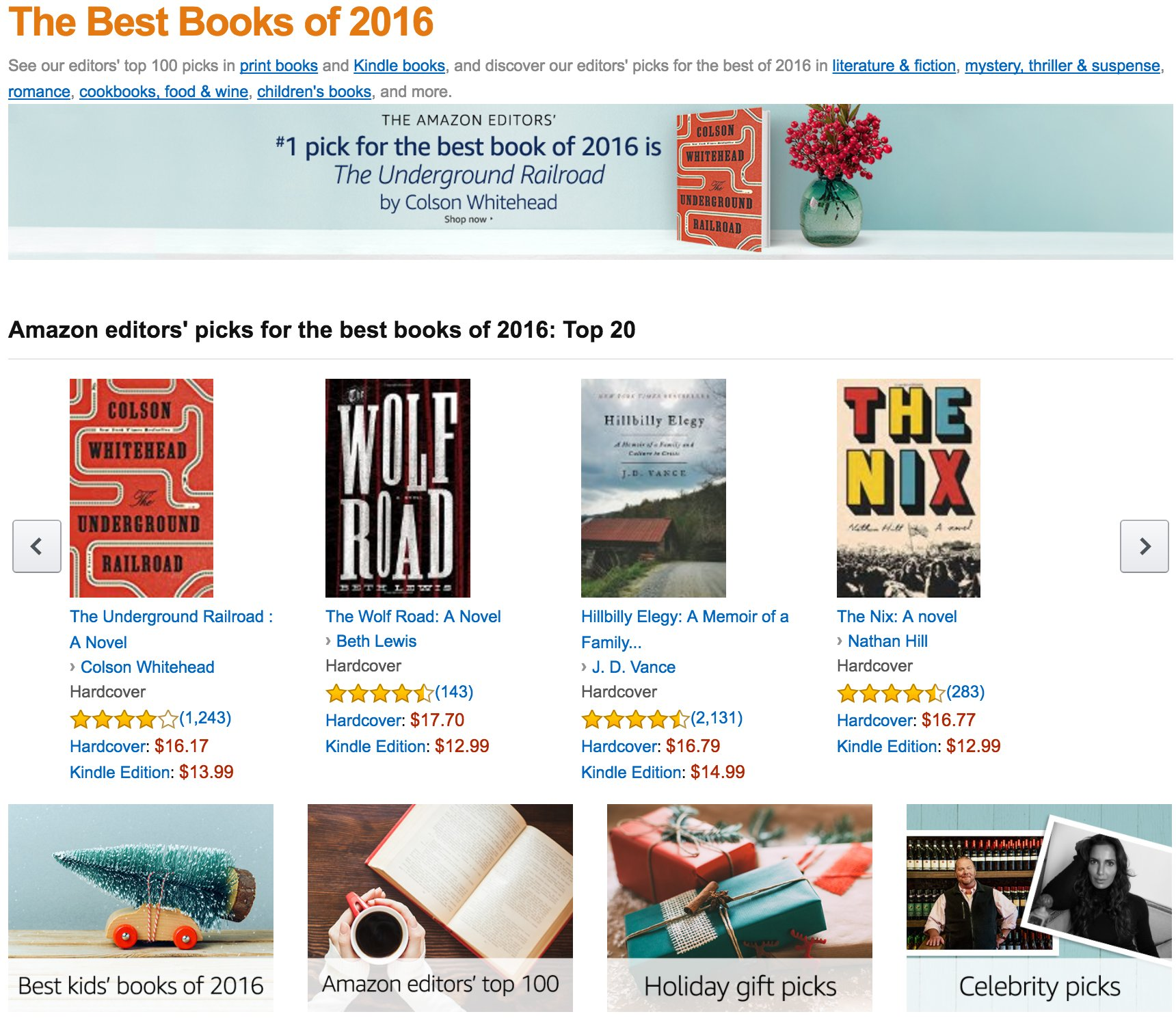 Editors pick popular on web pictures - See The 100 Amazon Editor Picks In Print And Kindle Books Https T Co 3l4pnhvgqq Https T Co P56kyqrscn