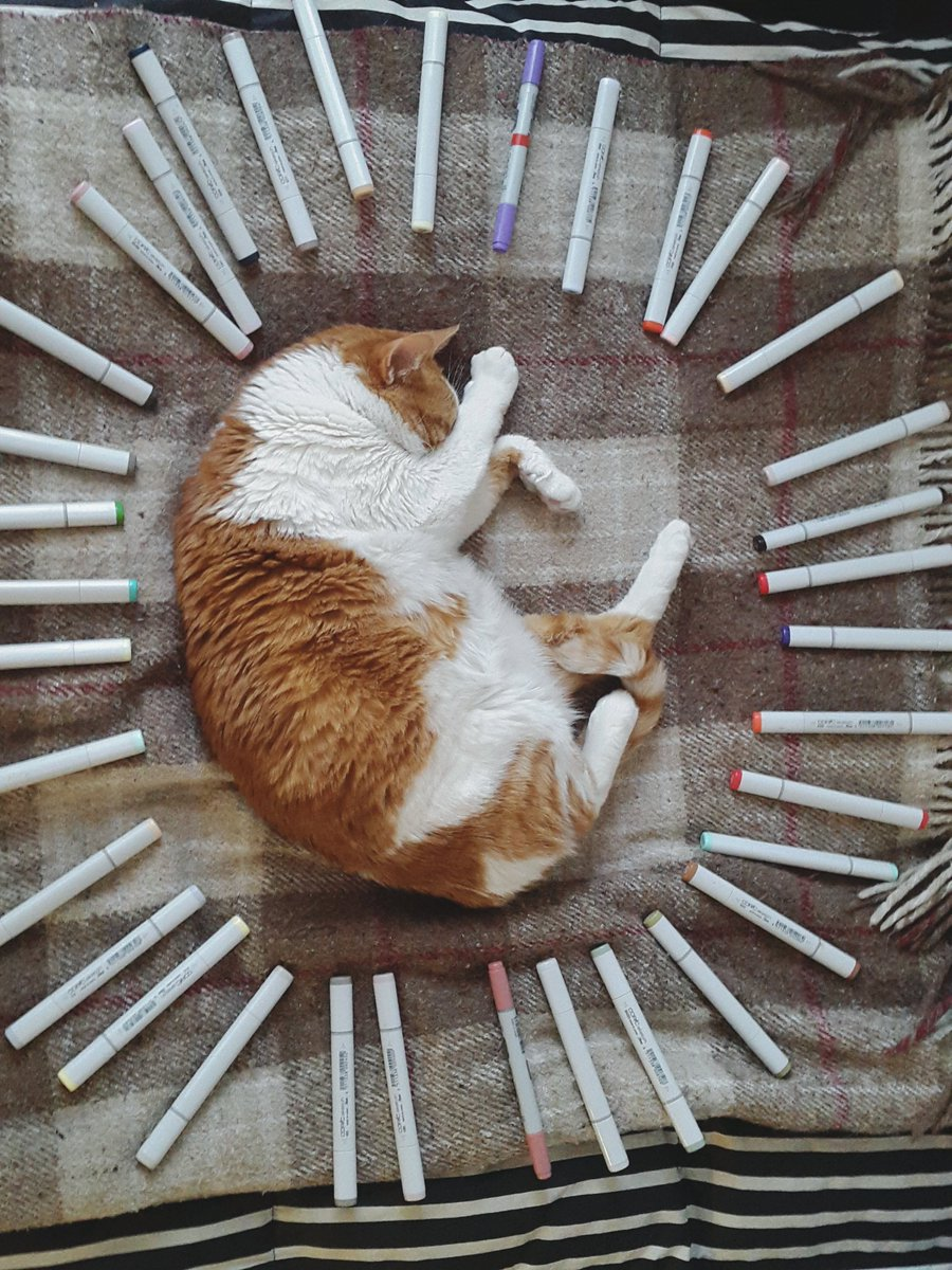 May the art cat bless you and grant you inspiration