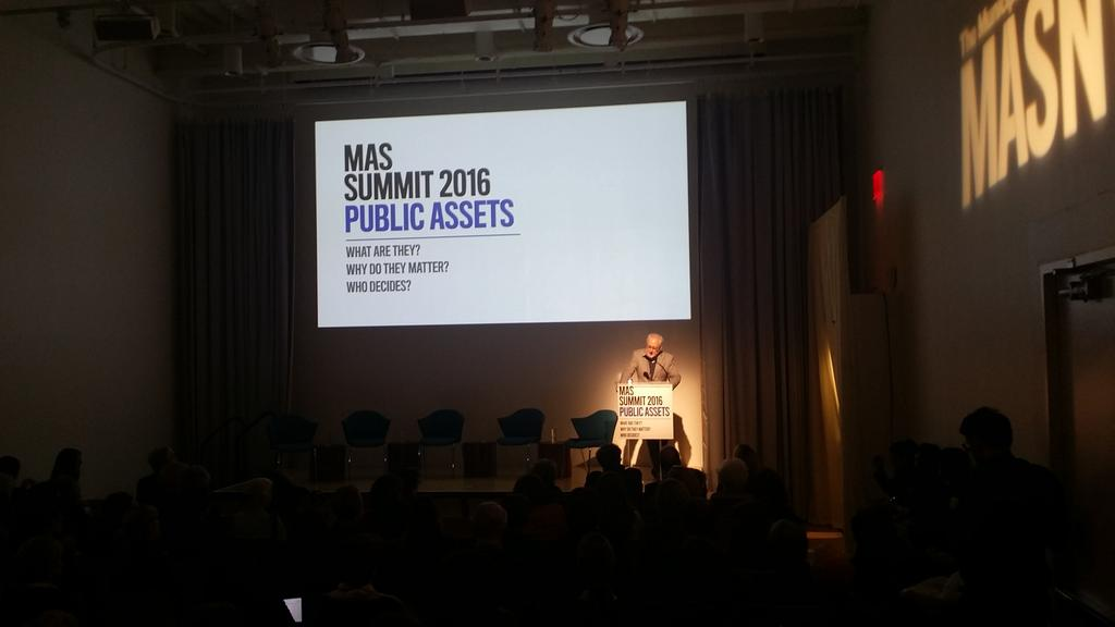 Public space is essential to democracy -@MichaelSorkin @MASNYC #summit2016 https://t.co/ggG8bRZIyb