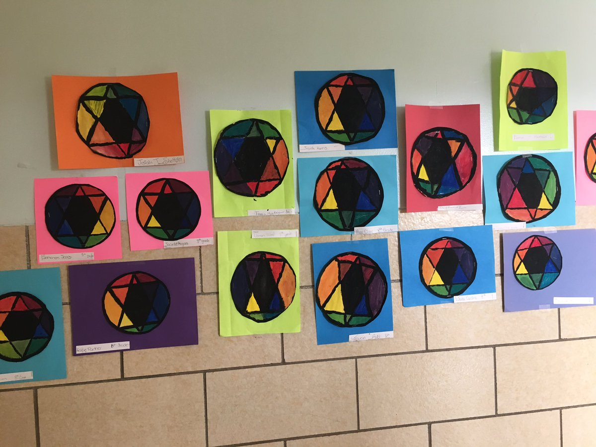 Co color wheel art - Smos On Twitter Check Out The Cool Art Project Students Learned About The Color Wheel And How To Mix Colors Https T Co Drurcpo0us